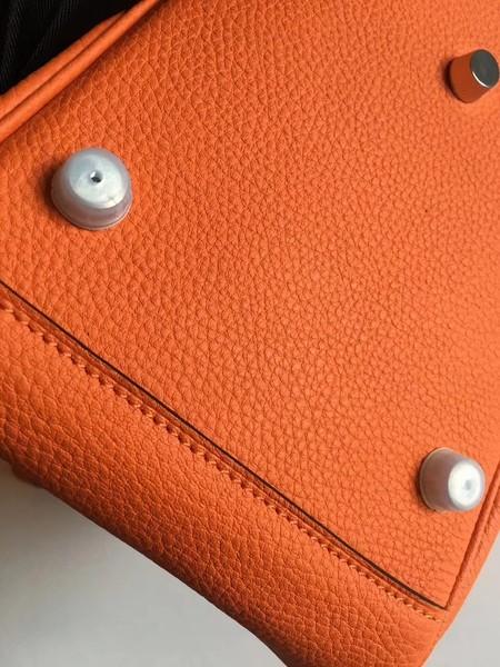 3f3e8ce97a64 ... uk hermes lindy original togo leather bag 5086 orange 7eaad 0ae54