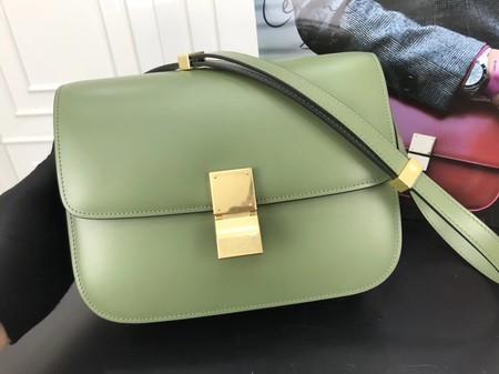 Celine Classic Box Flap Bag Original Calfskin Leather 3378 Green