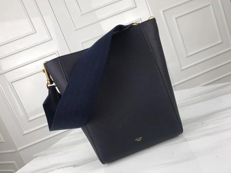 Celine Cabas Phantom Bags Original Calfskin Leather 3370 Blue