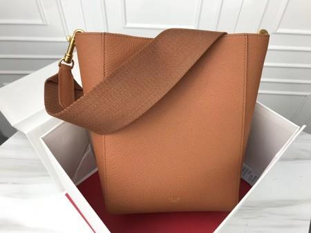 Celine Cabas Phantom Bags Original Calfskin Leather 3370 Brown