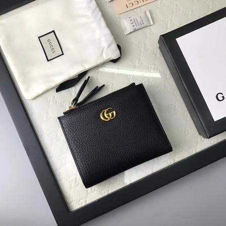 Gucci Calfskin Leather Wallet 474747 black