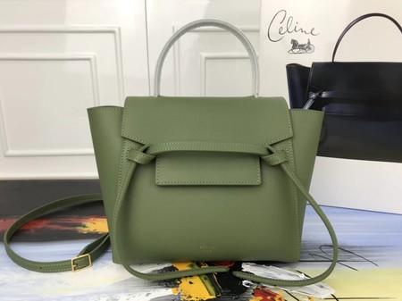 Celine Small Belt nano Bag Original Leather 98310 green