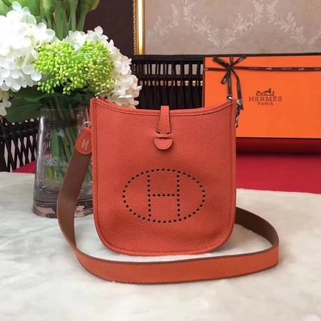 Hermes Evelyne mini 17cm Messenger Bag Original Calf Leather H1187 Orange