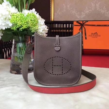 Hermes Evelyne mini 17cm Messenger Bag Original Calf Leather H1187 Grey