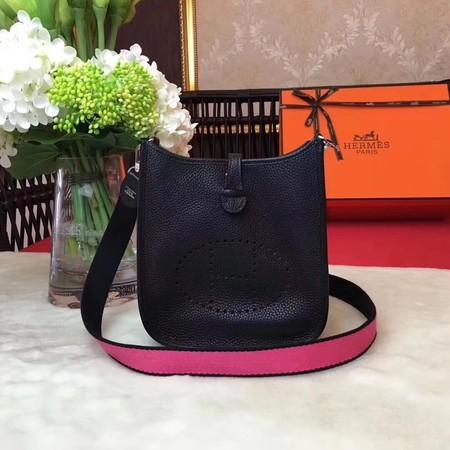 Hermes Evelyne mini 17cm Messenger Bag Original Calf Leather H1187 Black