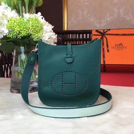 Hermes Evelyne mini 17cm Messenger Bag Original Calf Leather H1187 Green
