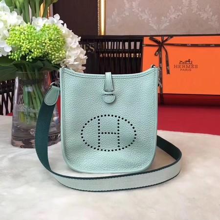 Hermes Evelyne mini 17cm Messenger Bag Original Calf Leather H1187 Light Green