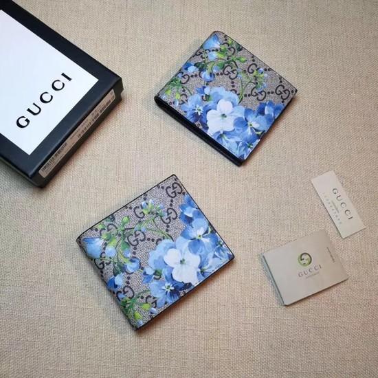 Gucci GG Supreme Canvas Wallet 451465 blue