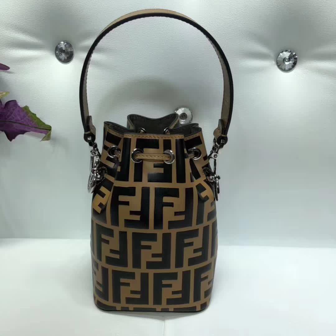 Fendi Calfskin Leather Flap TOTE Bag 3326