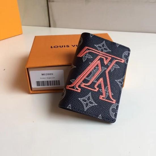 Louis Vuitton Upside Down Monogram Ink Card Purse 62889