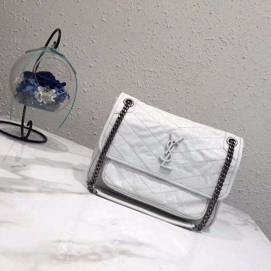 Yves Saint Laurent Medium Niki Chain Bag 498894 white