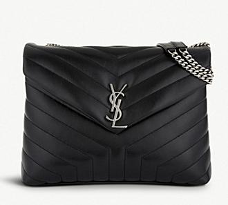 SAINT LAURENT Loulou Monogram medium quilted leather shoulder bag 74558 black