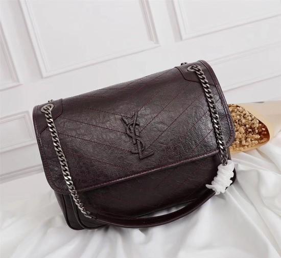 Yves Saint Laurent Medium Niki Chain Bag 2256 Wine