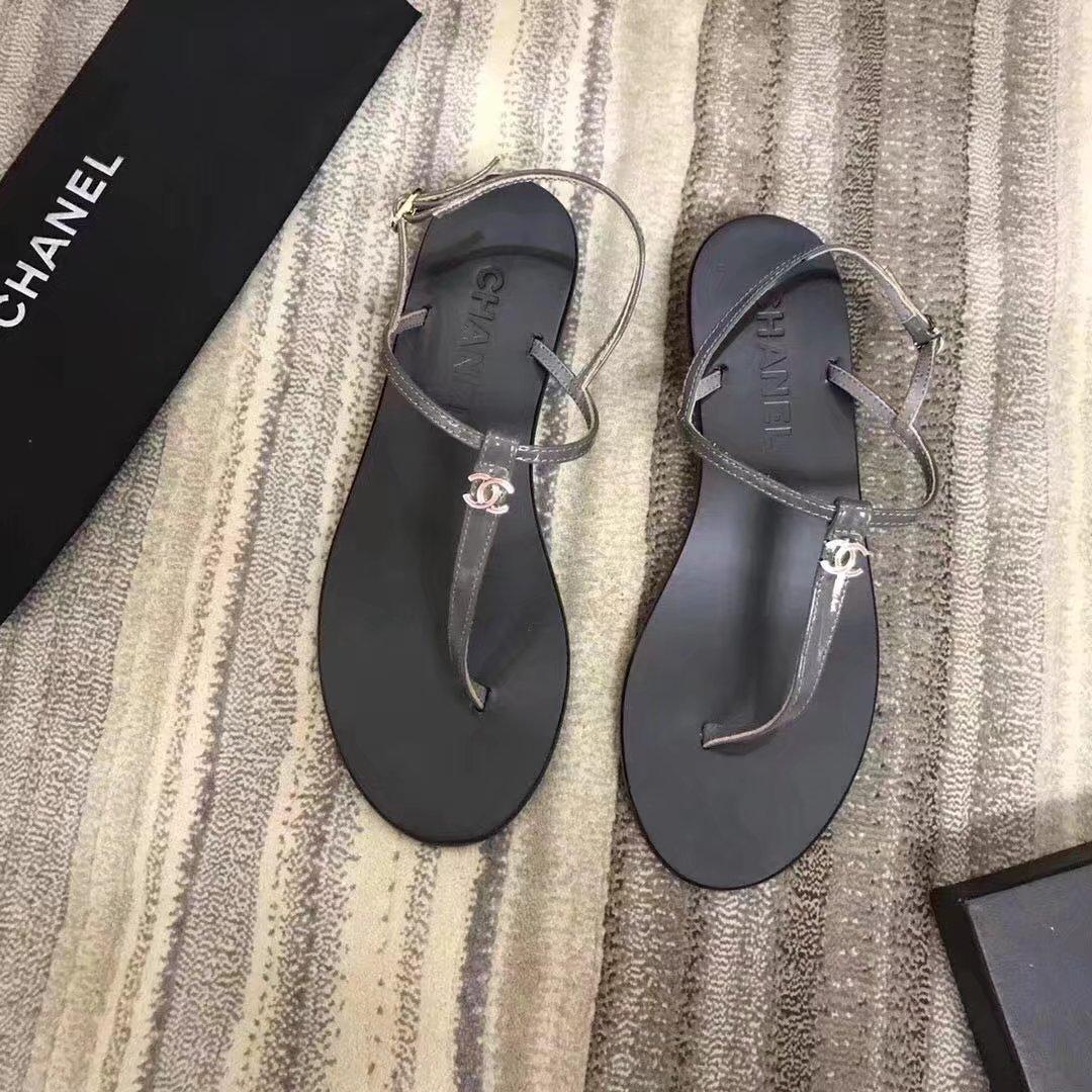 Chanel sandals CH2332LS grey heel of a shoe 2CM