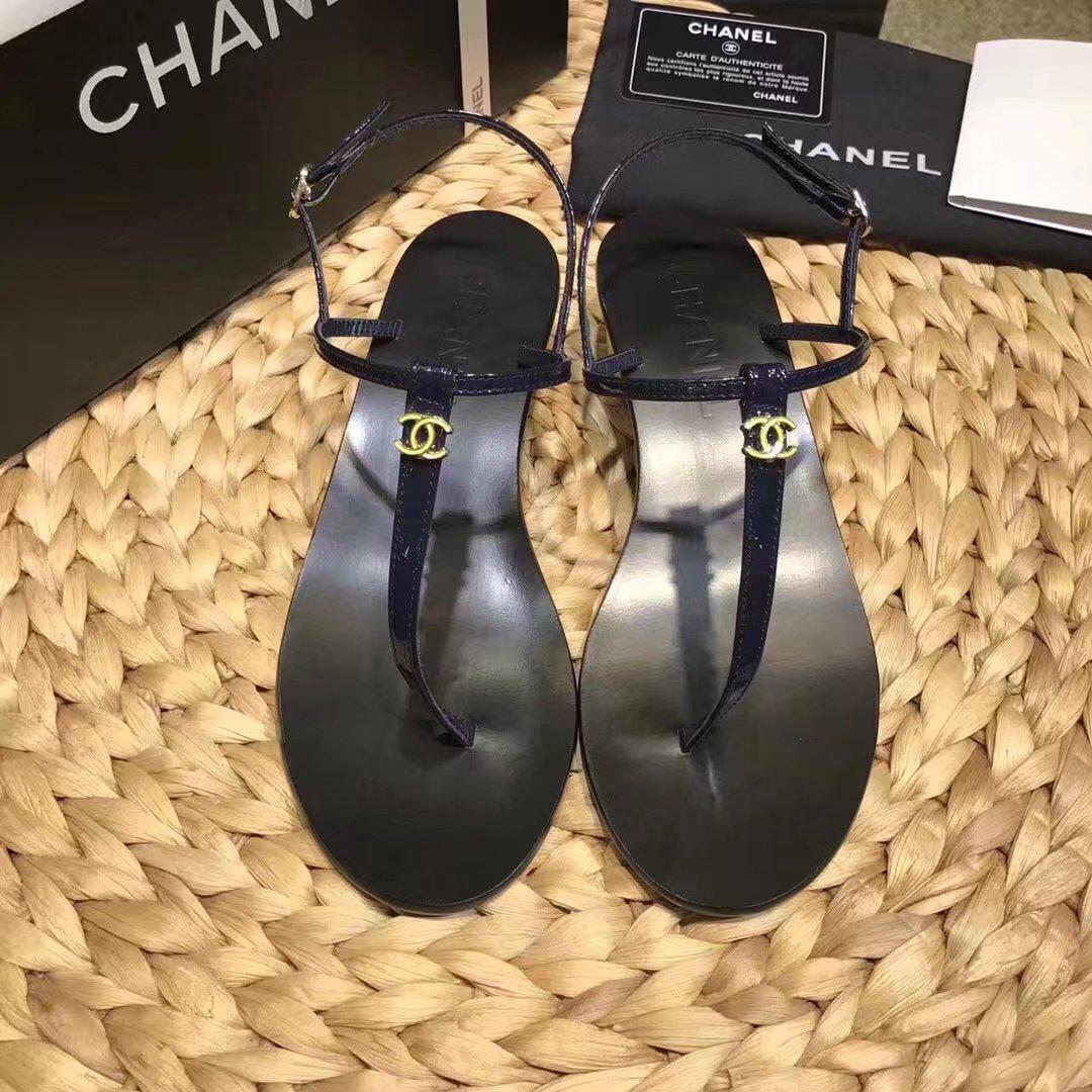 Chanel sandals CH2333LS blue heel of a shoe 4CM