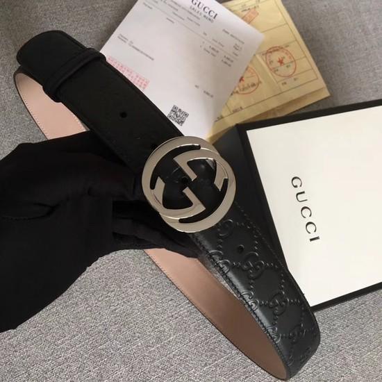 Gucci Signature leather belt 370543 black