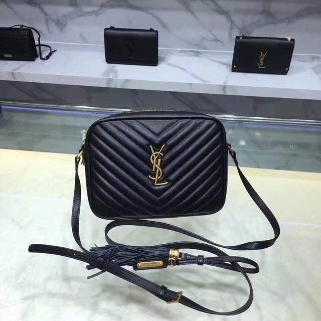 Saint Laurent Lou Medium Camera Bag 520534 black