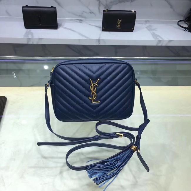 Saint Laurent Lou Medium Camera Bag 520534 blue
