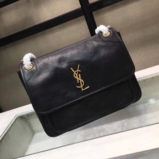 Saint Laurent Niki Large Monogram Shoulder Bag 2829 black