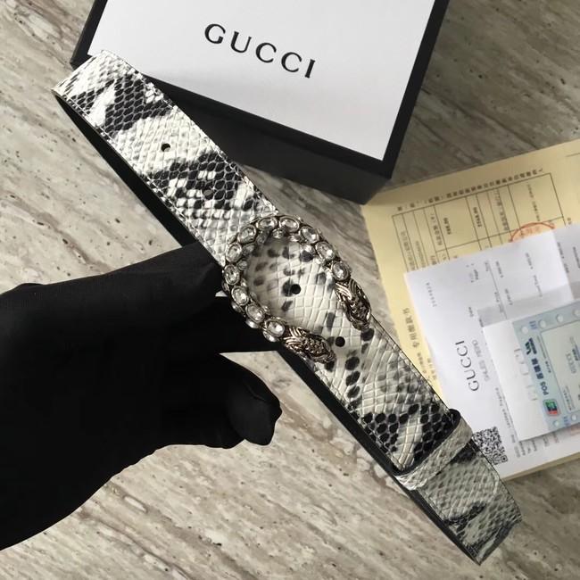 Gucci Snakeskin belt with Horsebit A488940