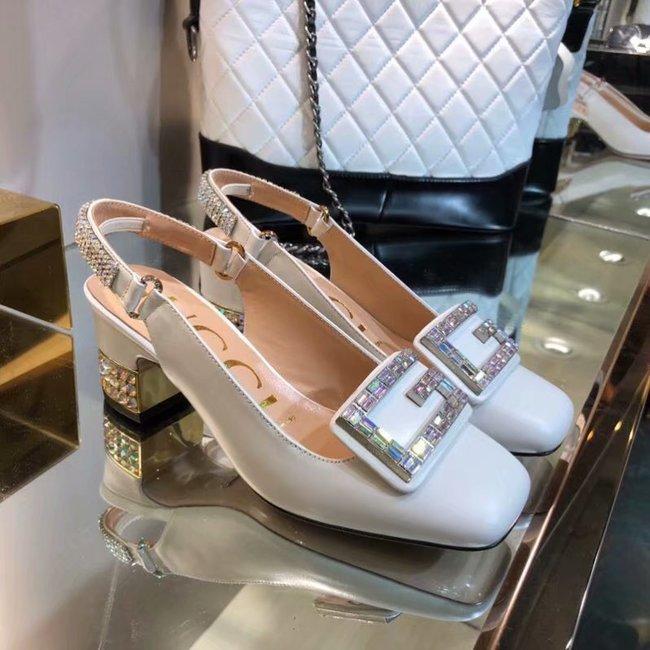 Gucci High-heeled shoes GG1376LD white Heel high 6CM
