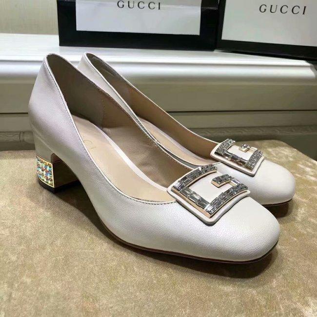 Gucci High-heeled shoes GG1378LD white Heel high 5CM