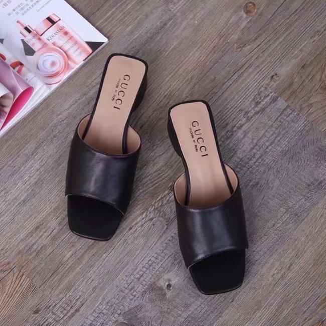 Gucci lady slippers GG1377LD black Heel high 3CM