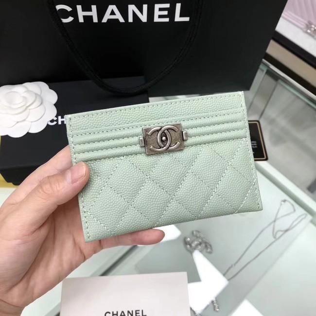 BOY CHANEL Card Holder A84431 Light green