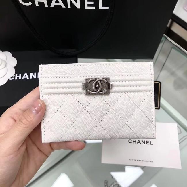 BOY CHANEL Card Holder A84431 White