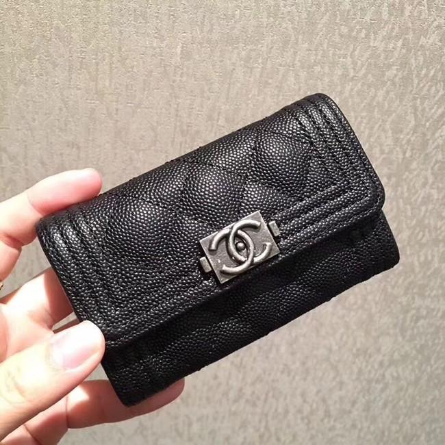 BOY CHANEL Card Holder A80603 Black