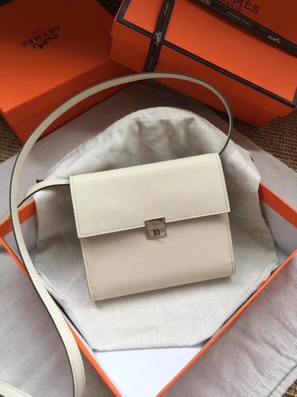 Hermes Clutch Epsom calfskin cross-body bag H0589 white