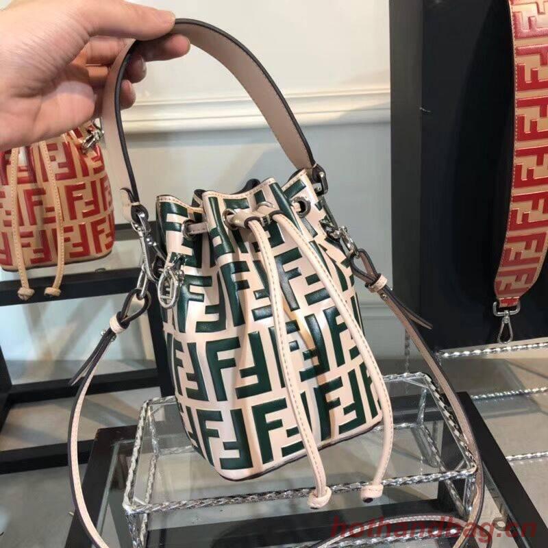 Fendi KAN I LOGO Handbag F0835 GREEN