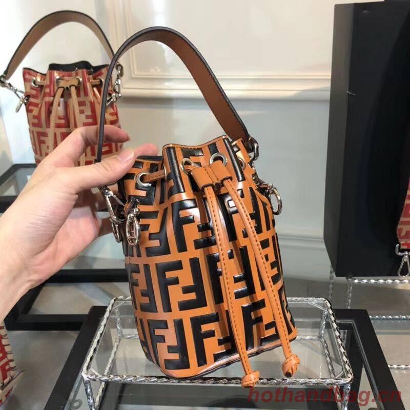 Fendi KAN I LOGO Handbag F0835 brown