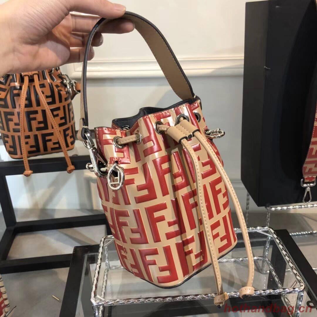 Fendi KAN I LOGO Handbag F0835 red