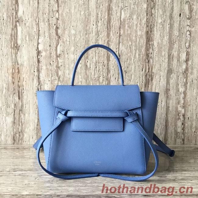 Celine NANO BELT BAG IN GRAINED CALFSKIN 99970 sky blue