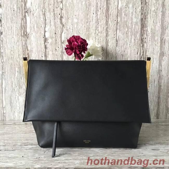 Celine calf leather Shoulder Bag 90054 black