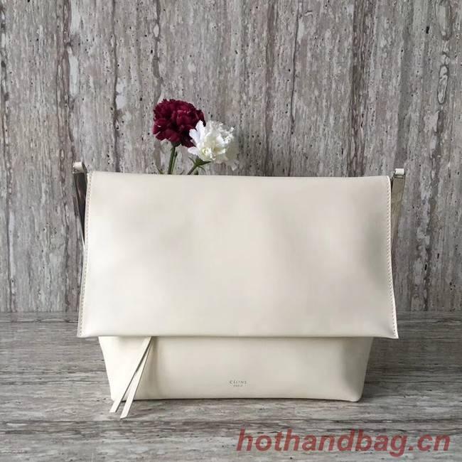Celine calf leather Shoulder Bag 90054 white