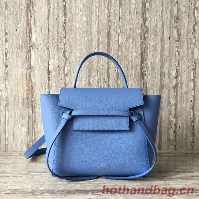Celine mini Belt Bag Original Calf Leather A98310 sky blue