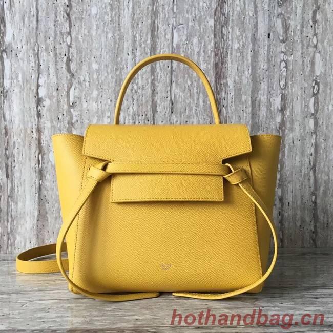 Celine mini Belt Bag Original Calf Leather A98310 yellow