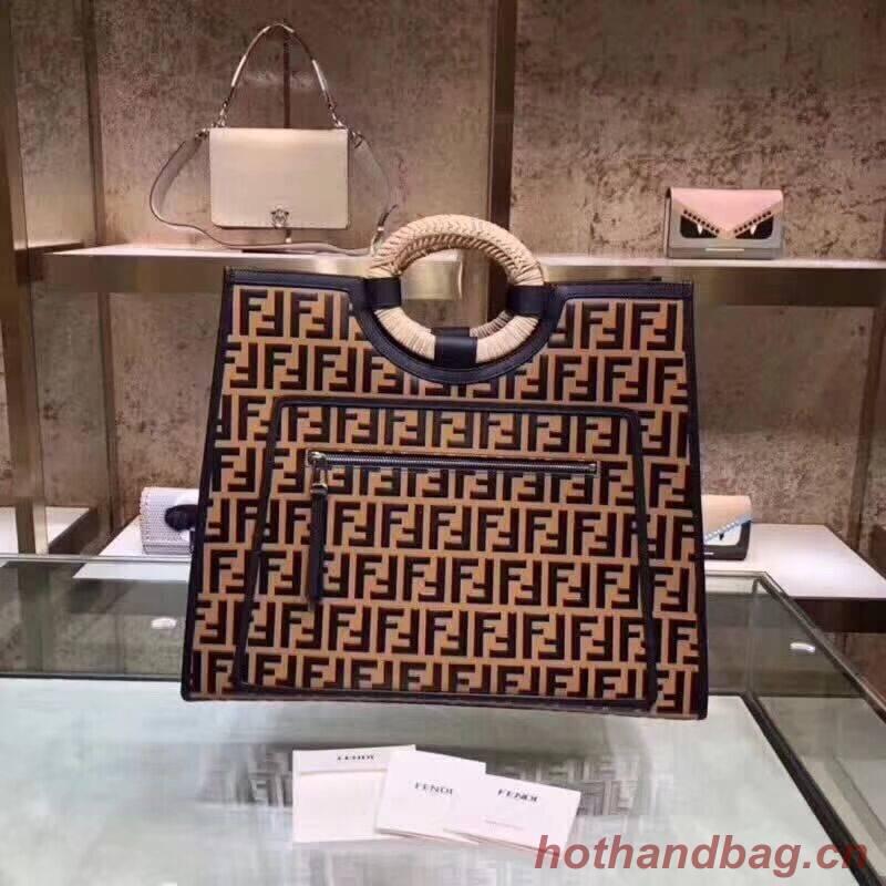 FENDI Kan I Original Leather Tote Bag 23589