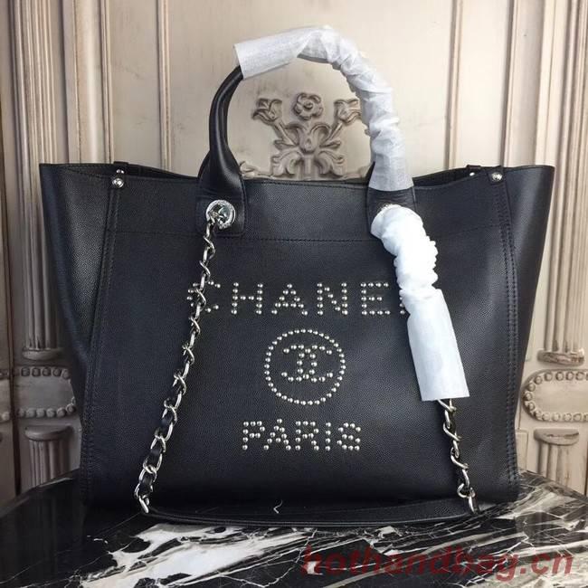 Chanel original Calfskin Leather Tote Bag 78900 black