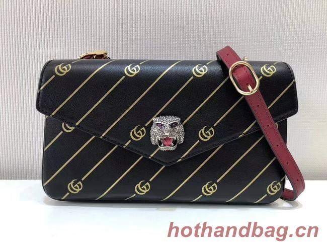Gucci Medium double shoulder bag 524822 black