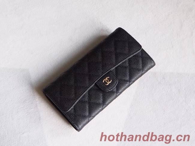 Chanel Classic Flap Wallet A31506 black