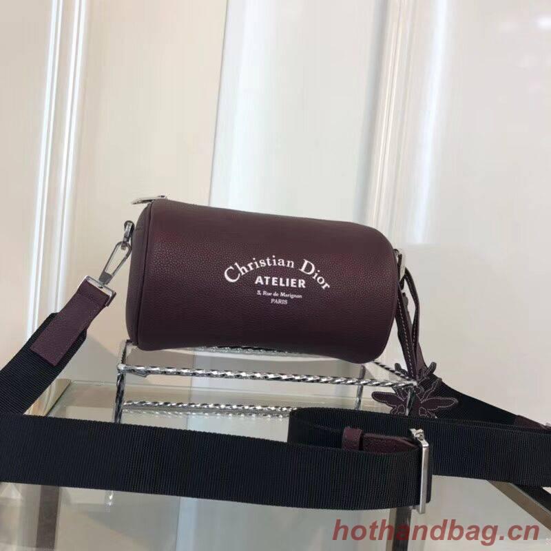 Dior Original GRAINED CALFSKIN ROLLER POUCH WITH ATELIER PRINT 1ATPO061 fuchsia