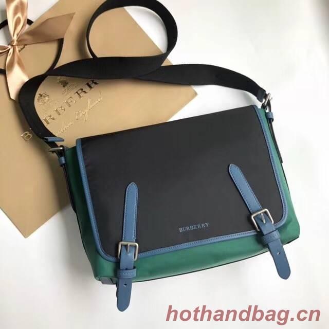 BurBerry House Check Messenger Bag B9263 black&green