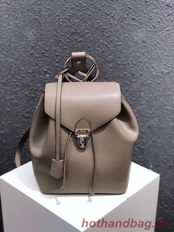 FENDI Kan I Leather knapsack 2570 grey