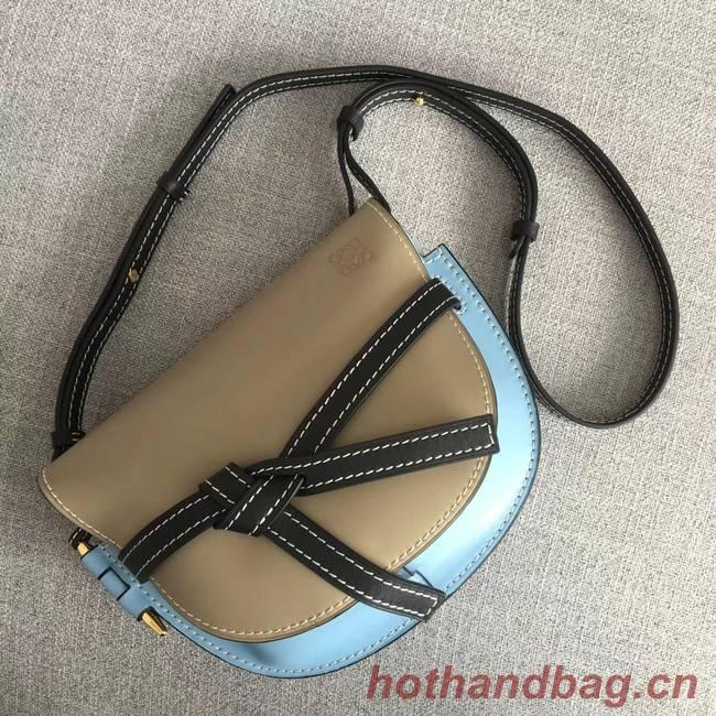 Loewe Crossbody Bags Original Leather 8088 Apricot & light blue