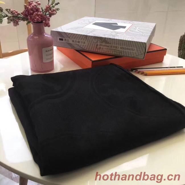 Hermes Silk scarf H919669 black