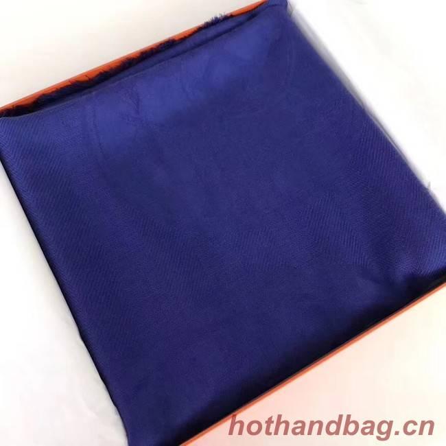 Hermes Silk scarf H919669 blue
