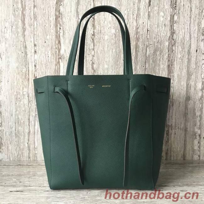 CELINE SMALL CABAS PHANTOM IN SOFT GRAINED CALFSKIN 17602 green